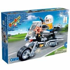 Banbao Building Blocks Police Motor, Multi Color