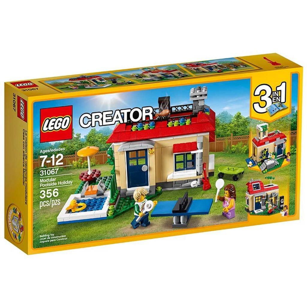 Lego Creator 3 In 1 Modular Poolside Holiday Building Kit, No 31067