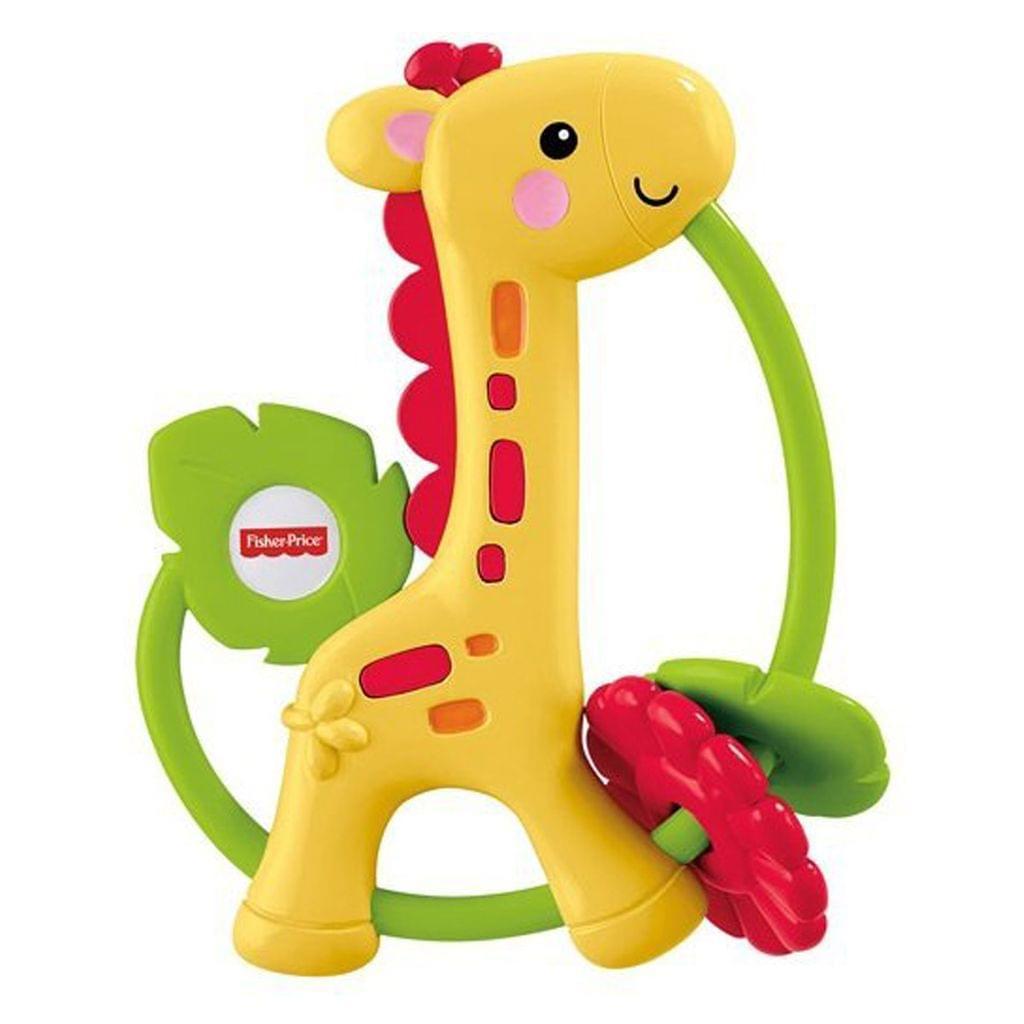 Fisher Price Giraffe Clacker Easy to grasp, Multi Color
