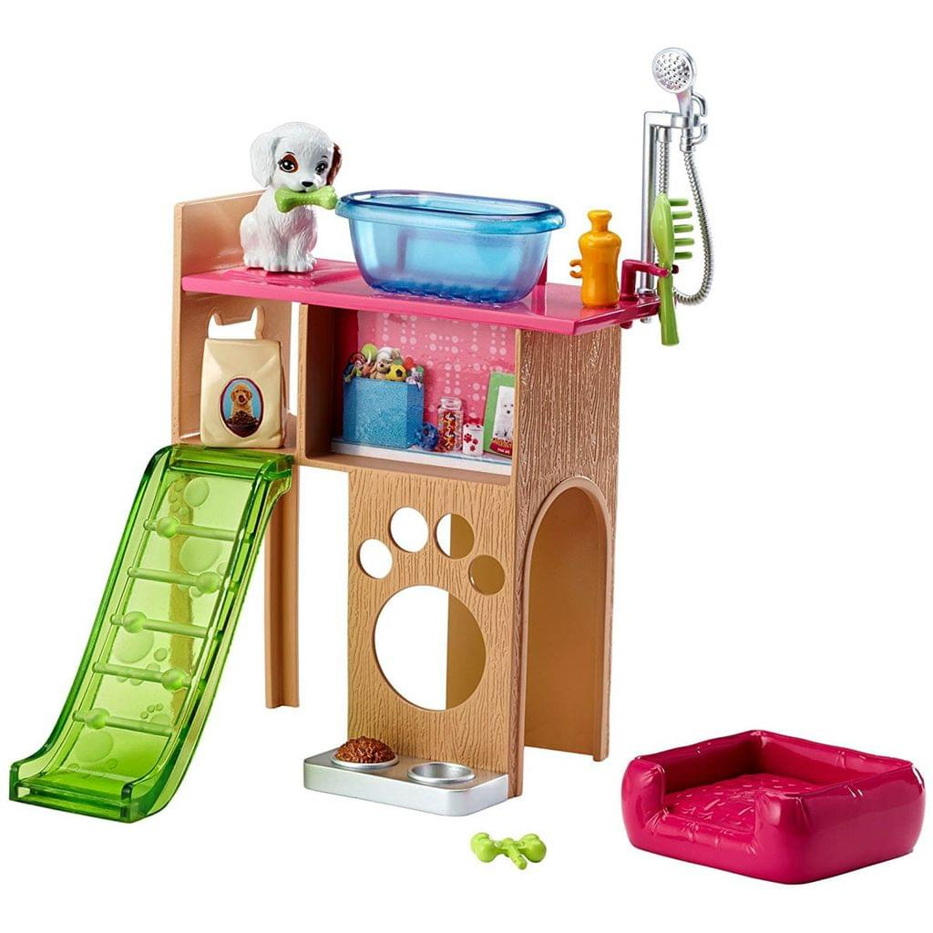 Barbie Furniture and Accessories Puppy Playtime Playset, Multi Color