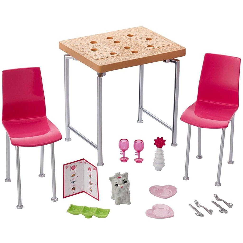 Barbie Furniture and Accessories Dinner Playset, Multi Color