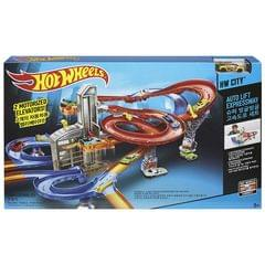 Hot Wheels Motorized Auto Lift Expressway Playset, Multi Color