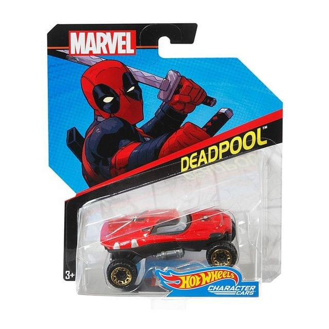 Hot Wheels Marvel Character Cars, Deadpool Car Multi Color