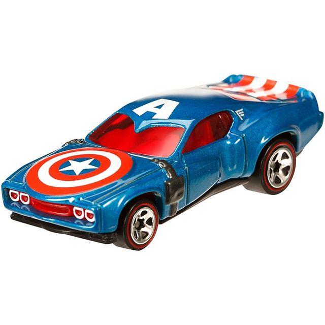 Hot Wheels Marvel Character Cars, Captain America Car Multi Color
