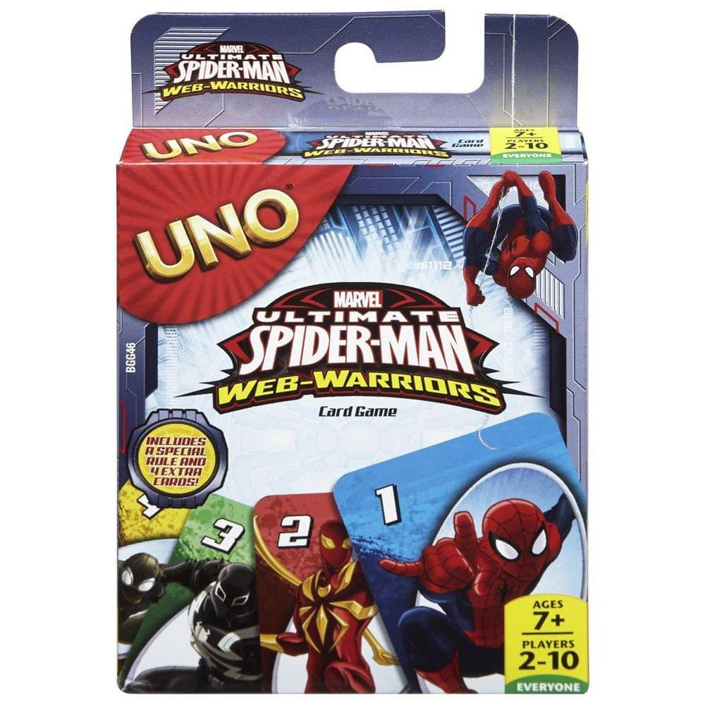 Mattel Uno Spiderman Card Game, Multi Color