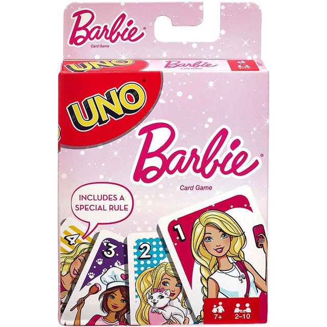 Mattel Uno Barbie Card Game, Multi Color