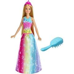Barbie Dreamtopia Brush n Sparkle Princess Doll, Multi Color