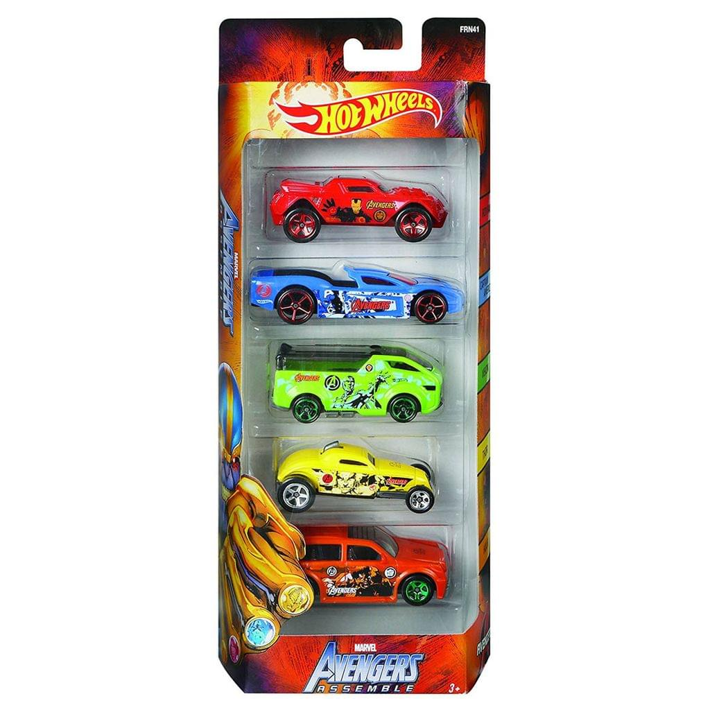 Hot Wheels Avenger Series 5 Cars Gift Pack, Multi Color