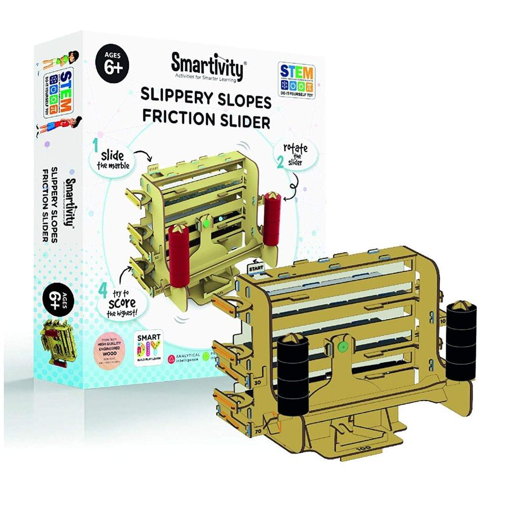 Smartivity Slippery Slopes Friction Slider, Multi Color