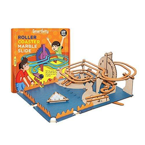 Smartivity Roller Coaster Marble Slide, Multi Color
