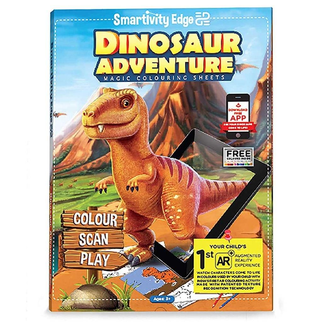 Smartivity Edge Dinosaur Adventure Magic Colouring Sheets, Multi Color