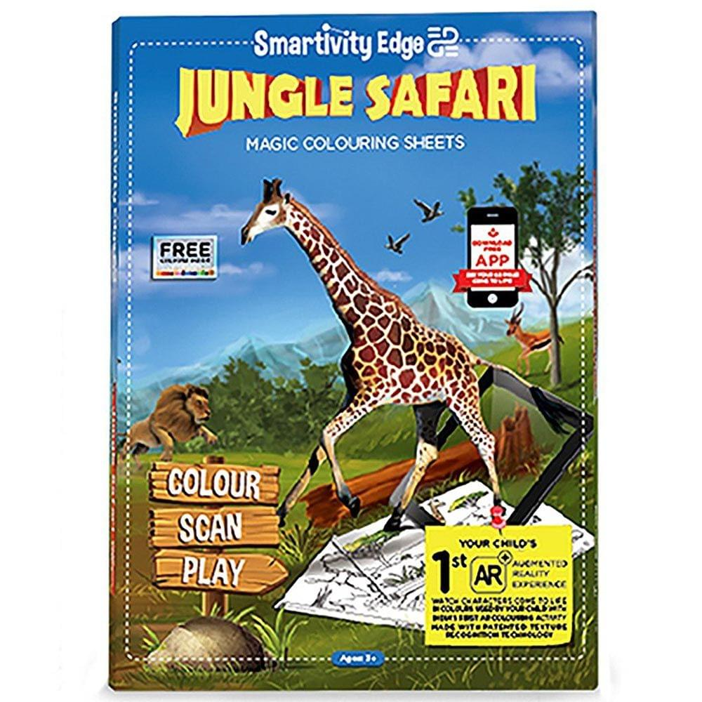 Smartivity Edge Jungle Safari Magic Colouring Sheets, Multi Color