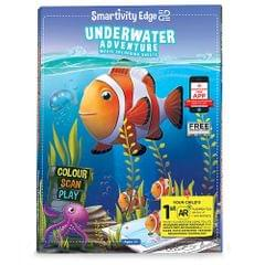 Smartivity Edge Underwater Adventure Magic Colouring Sheets, Multi Color