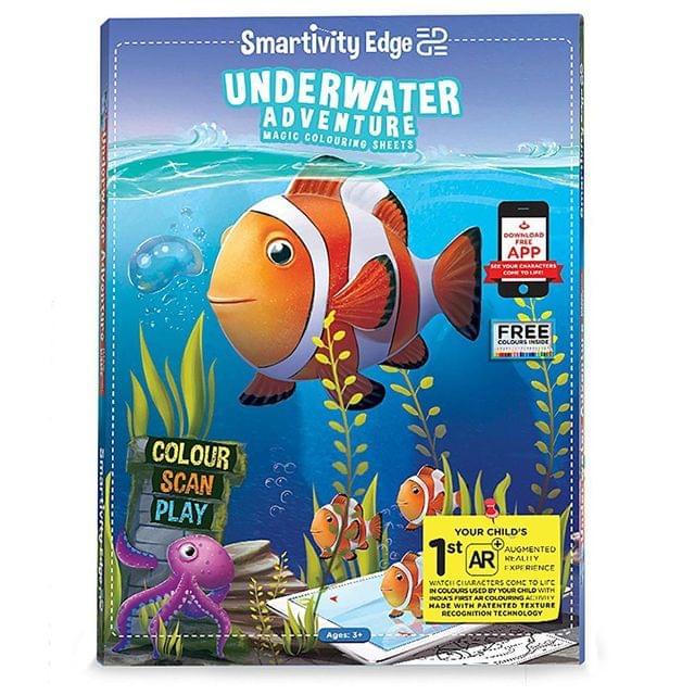Smartivity Edge Underwater Adventure Magic Colouring Sheets, Multi Color