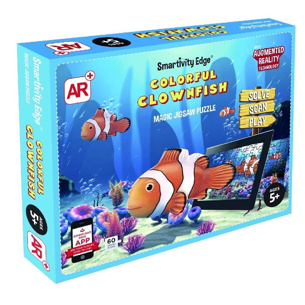 Smartivity Edge Colourful Clownfish Magic Jigsaw Puzzle, Multi Color
