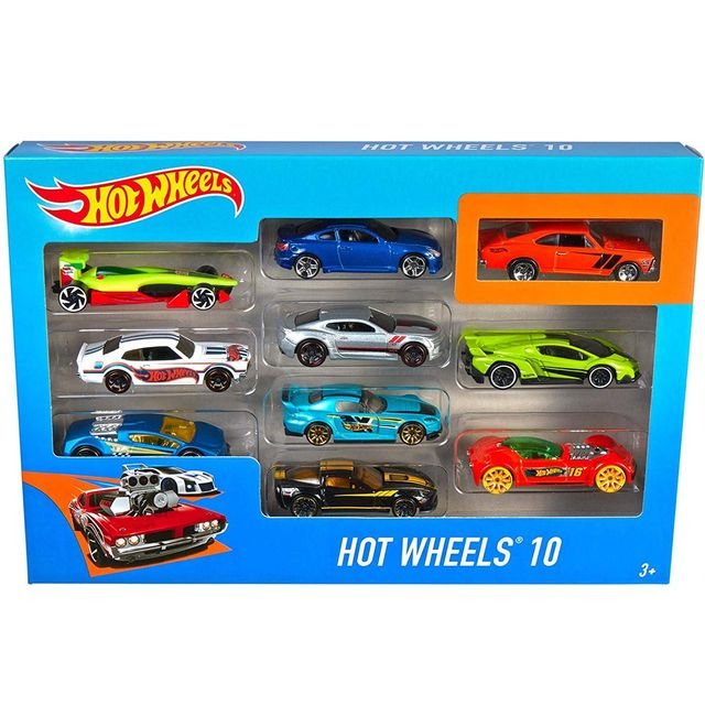 Hot Wheels 10 Cars Gift Pack, Styles May Vary