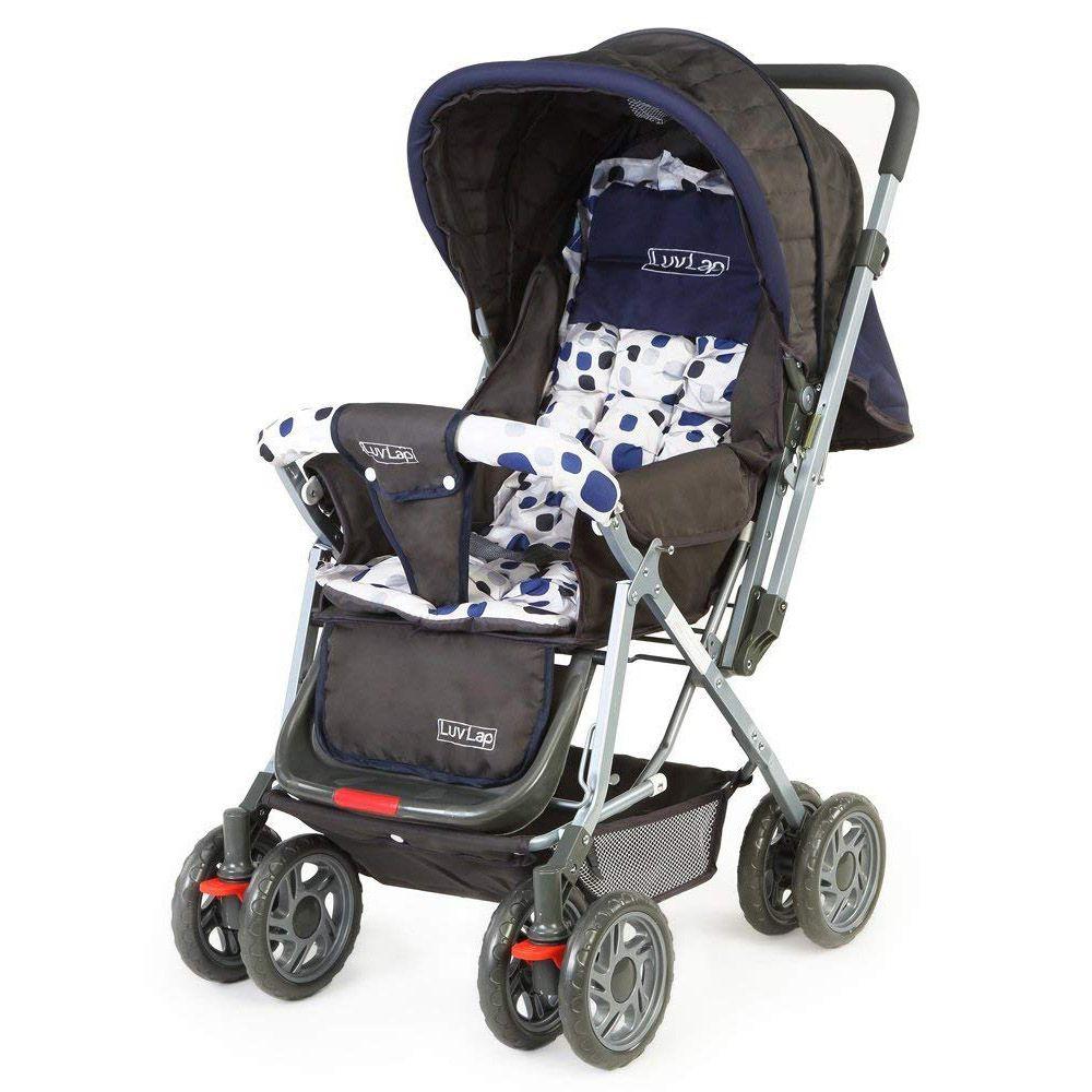 LuvLap Sunshine Baby Stroller, Blue Color