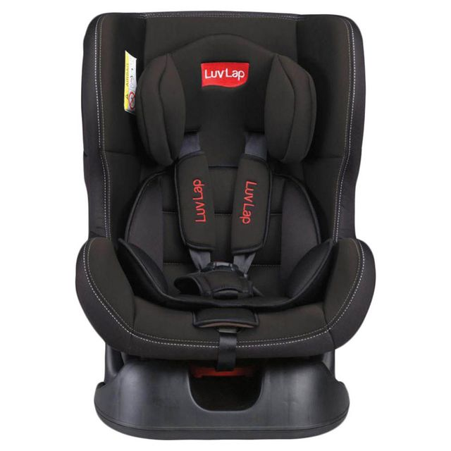 LuvLap Sports Baby Car Seat, Black Color
