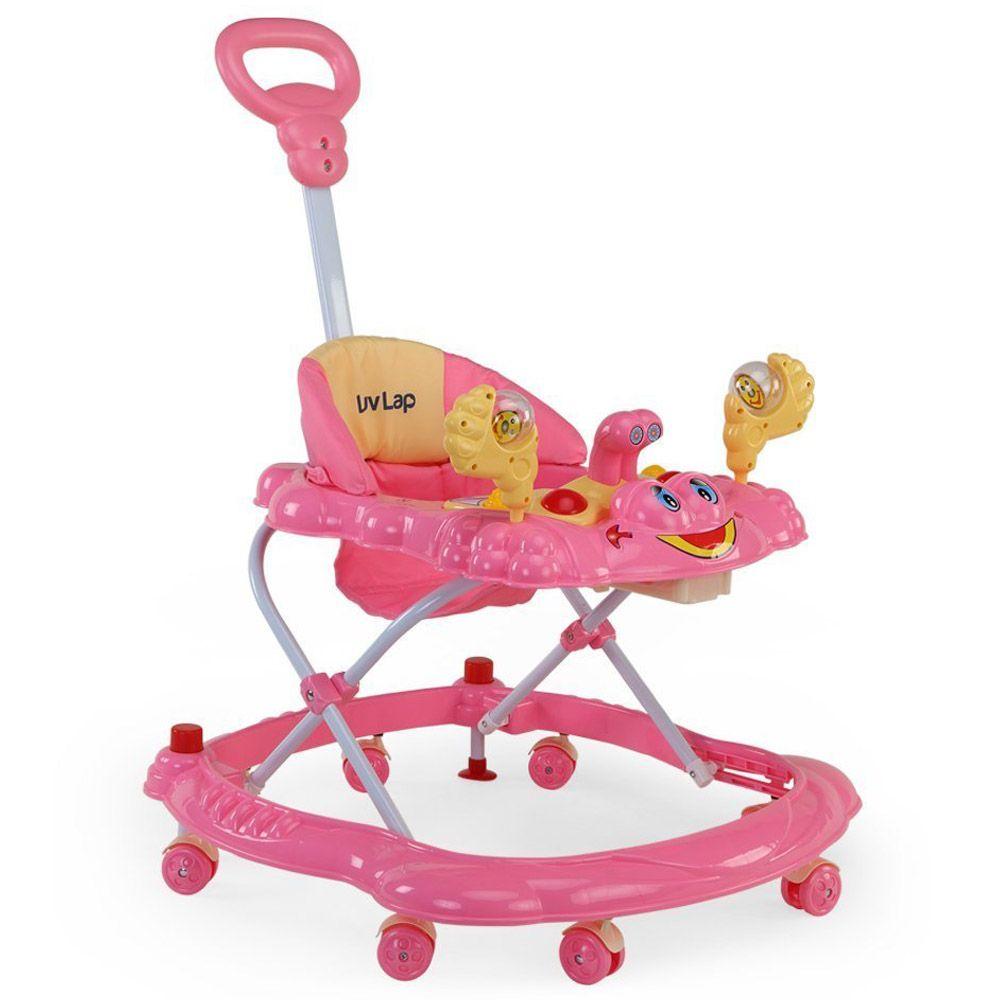 LuvLap Sunshine Baby Walker, Pink Color