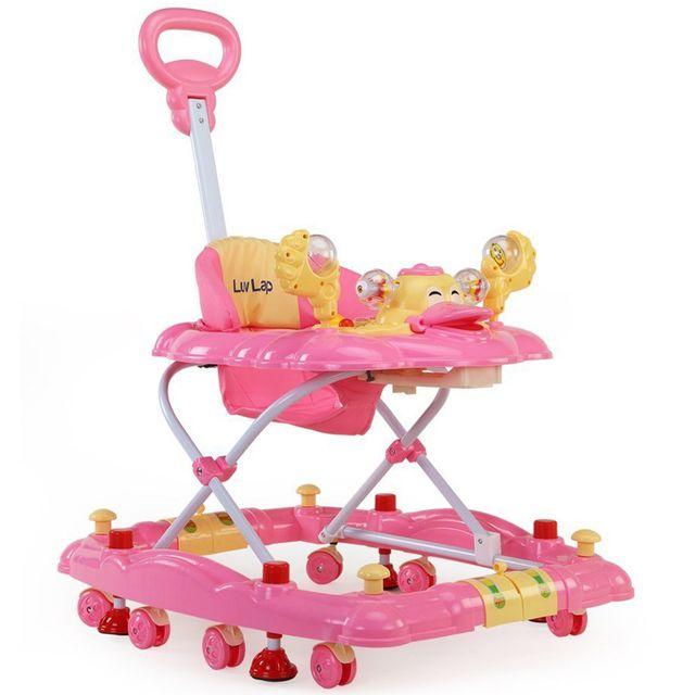 LuvLap Comfy Baby Walker, Pink Color