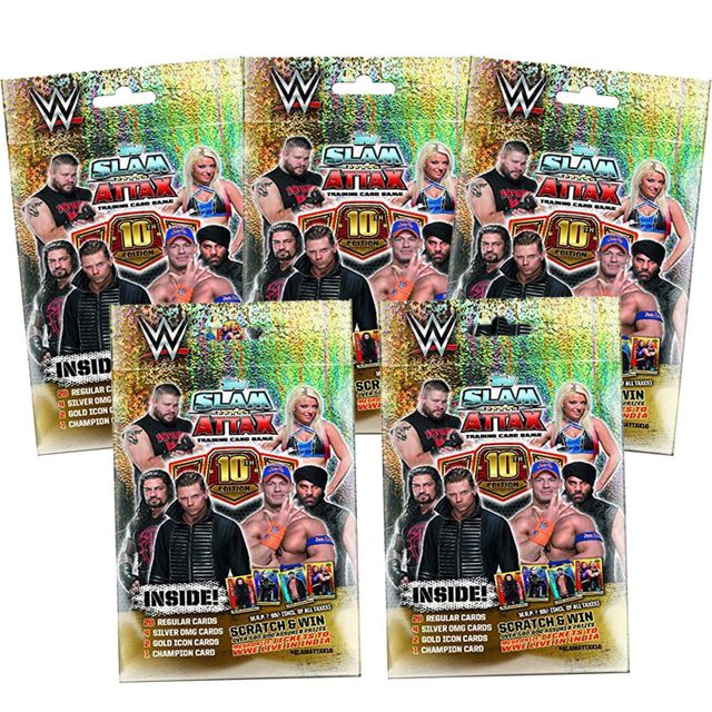 Topps WWE Slam Attax 10 TCG Collection, Pack of 5