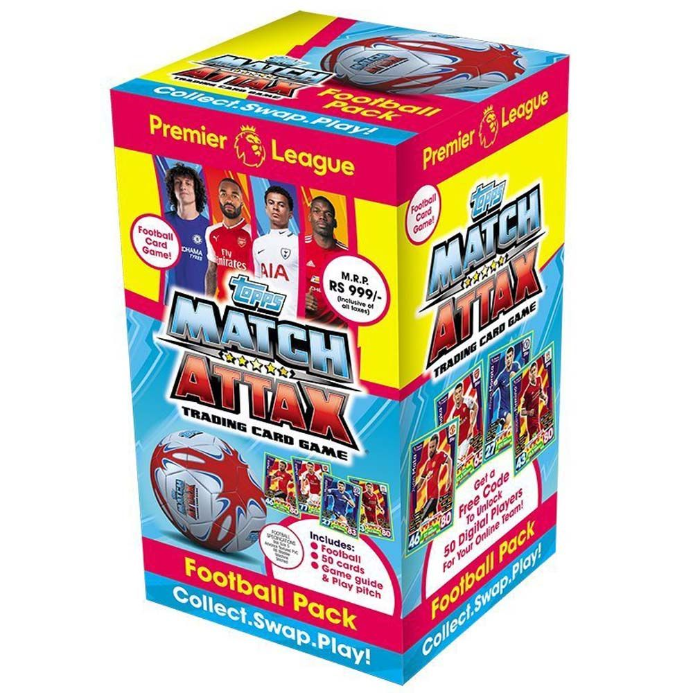 Topps Match Attax Foot Ball Pack, Multi Color