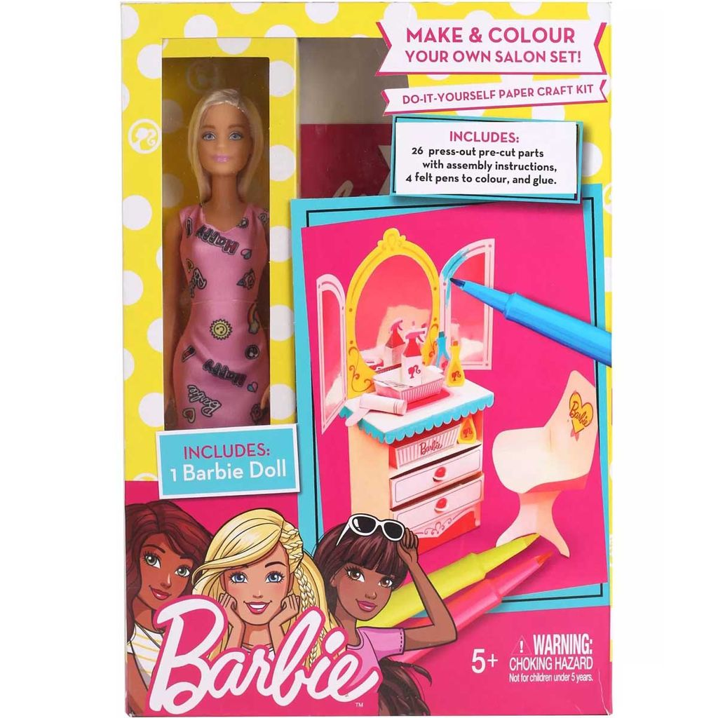 Barbie Salon DIY Playset, Pink Color