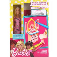 Barbie Salon DIY Playset, Pink Color