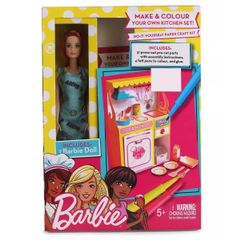 Barbie Kitchen DIY Playset, Blue Color