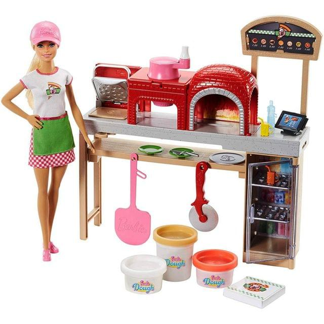 Barbie Pizza Chef Doll and Playset, Multi Color
