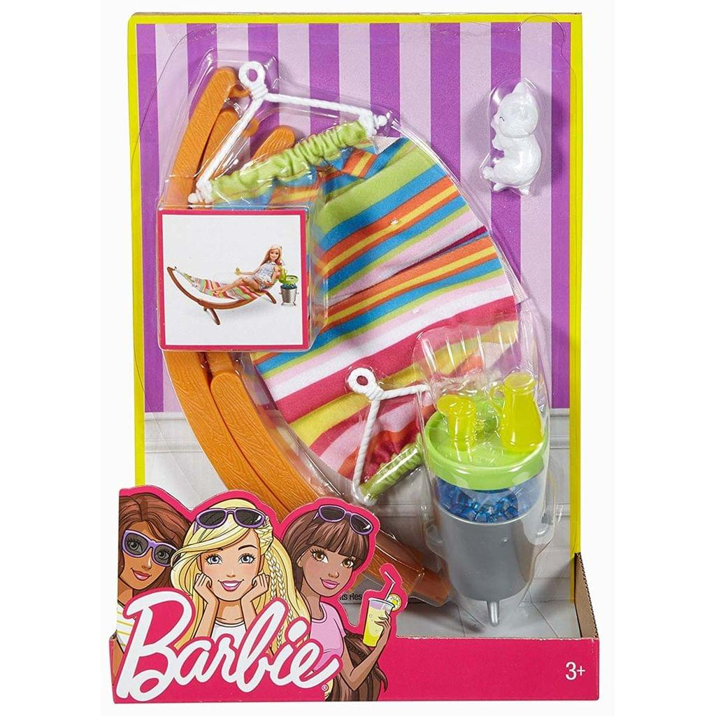 Barbie Furniture and Accessories Hammock Playset, Multi Color