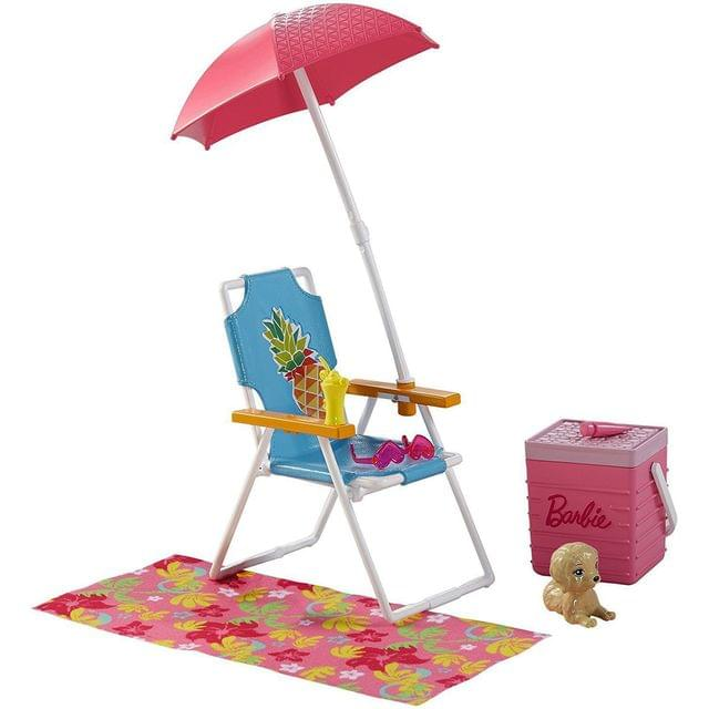 Barbie Furniture and Accessories Beach Playset, Multi Color