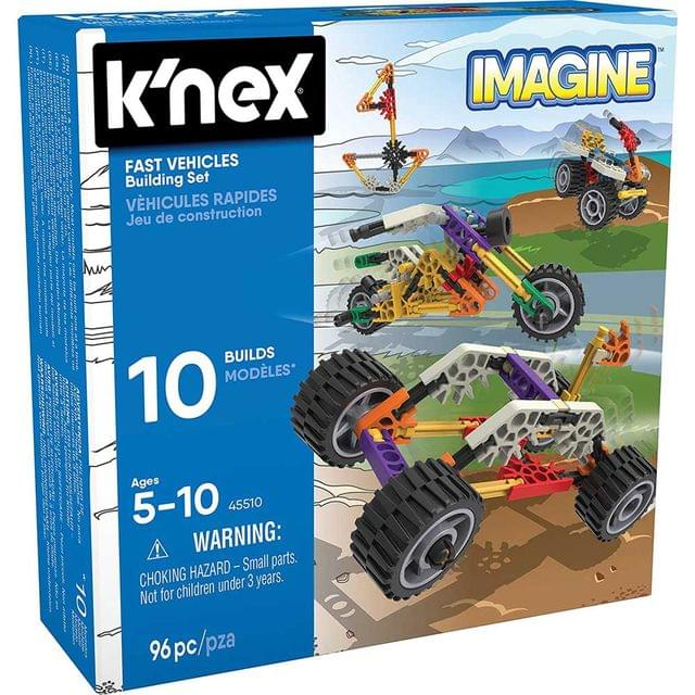 K'Nex Imagine Fast Vehicles Building Set, Multi Color