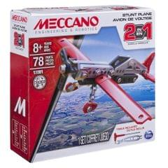 Meccano 2 In 1 Model Stunt Plane, Multi Color