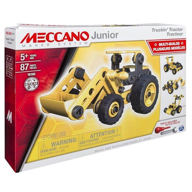 Meccano Junior 4 In 1 Truckin Tractor, Multi Color