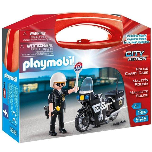 Playmobil Police Carry Case, Multi Color