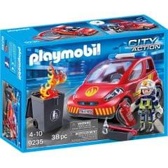 Playmobil Firefighter With Car, Multi Color