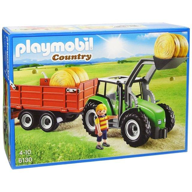 Playmobil Large Tractor with Trailer, Multi Color