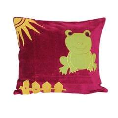 Frog pillow cover