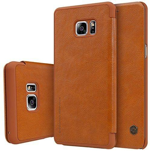 Samsung Galaxy Note 7 Nillkin QIN Series Luxury Royal Leather Flip Cover Case ( Brown )