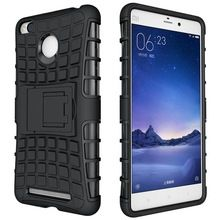 Xiaomi Redmi 3S / Redmi 3 Military Grade Dual Layer Kick Stand Back Cover Case