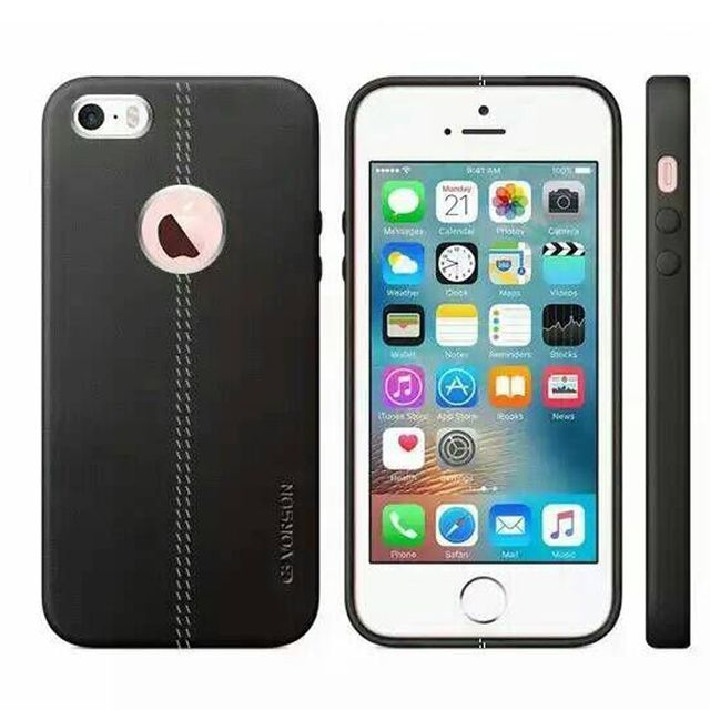 Apple iPhone 6 and 6s Vorson Leather Shell with Metallic Logo Display Back Cover