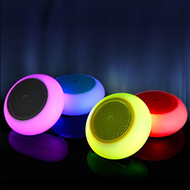 Color Changing Bluetooth Speaker G60- (Grey)