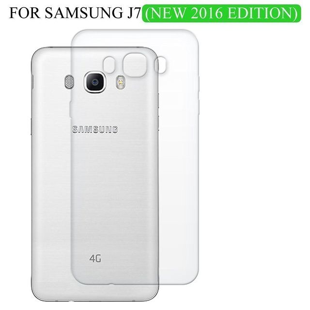 SAMSUNG J7 2016 -Ultra Thin Transparent Clear Silicone jelly gel case Back cover