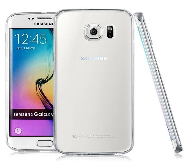 Samsung Galaxy S6 Ultra Thin 0.3mm Clear Transparent Flexible Soft TPU Slim Back Case Cover