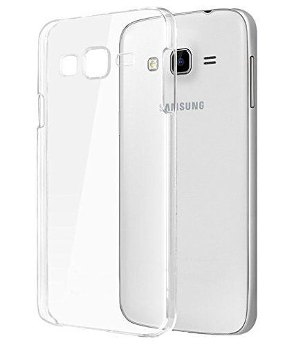 Samsung Galaxy  On5 Premium Transparent clear white Silicon Flexible Soft TPU Slim Back Case Cover
