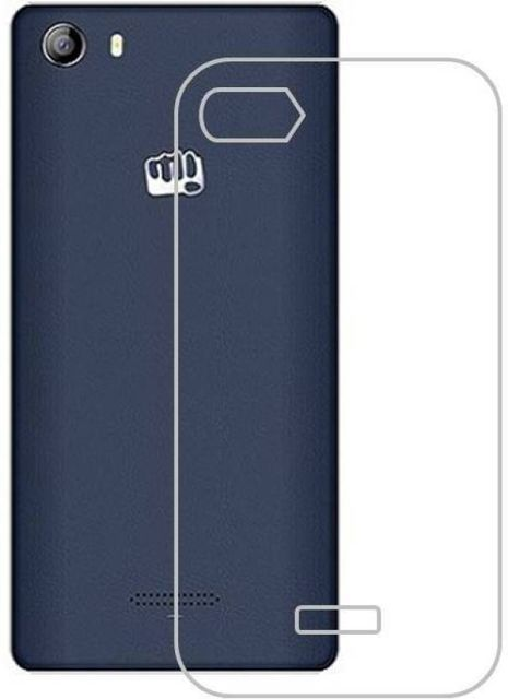 Micromax Canvas 5 E481 Silicon Soft Plain Back Cover Case  - Transparent