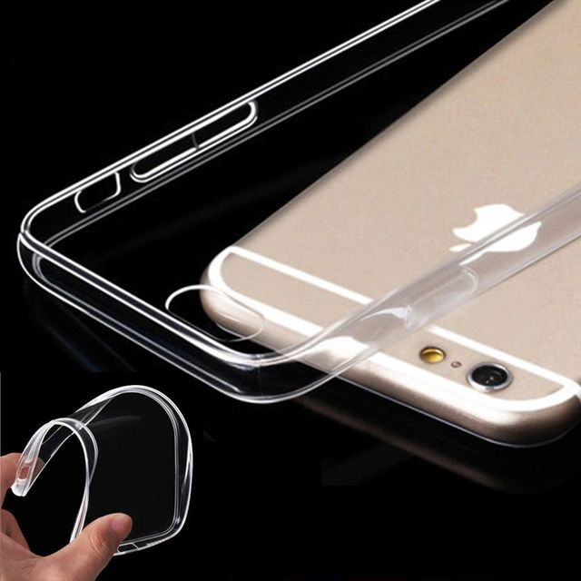 Apple iPhone 6 plus / 6s plus Thin 0.3mm Clear Transparent Flexible Soft TPU Slim Back Case Cover  5.5 inch