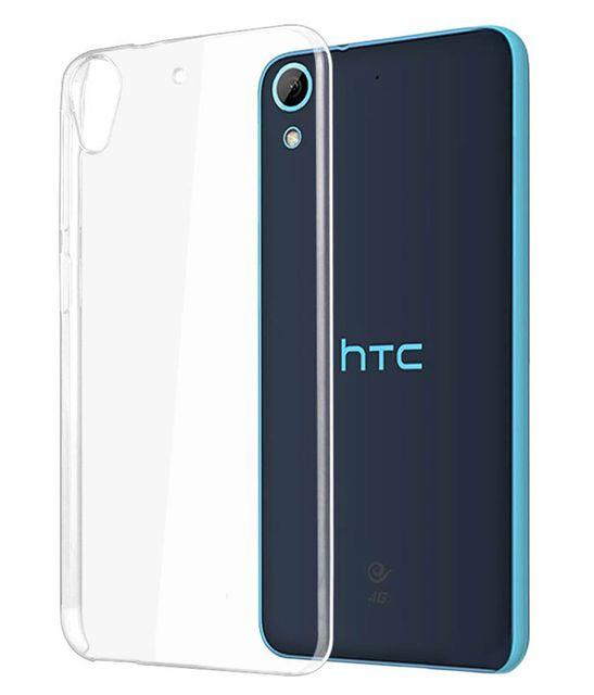 HTC Desire 820G + Transparent Silicon Electroplated Edges TPU Back Case Cover