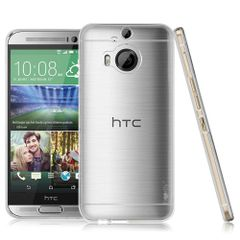 HTC One M9 Plus / M9+ Ultra Thin 0.3mm Clear Transparent Flexible Soft TPU Slim Back Case Cover